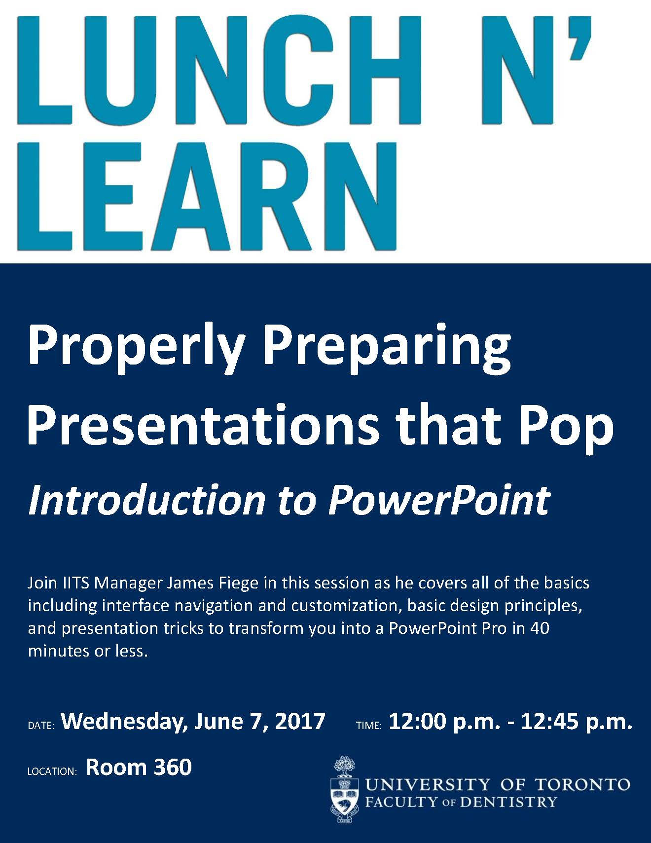 lunch n learn powerpoint poster