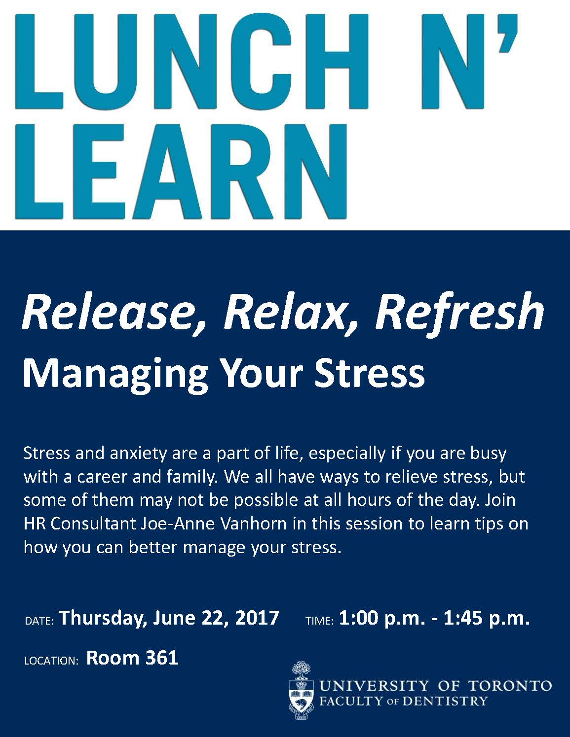 poster for stress management session