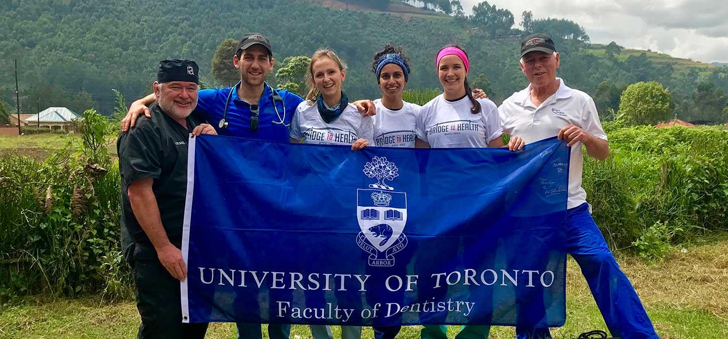 UofT Faculty, alumni and two Doctor of Dental Surgery students on their final clinic day!