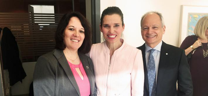 image of celine levesque with kristy duncan and meric gertler